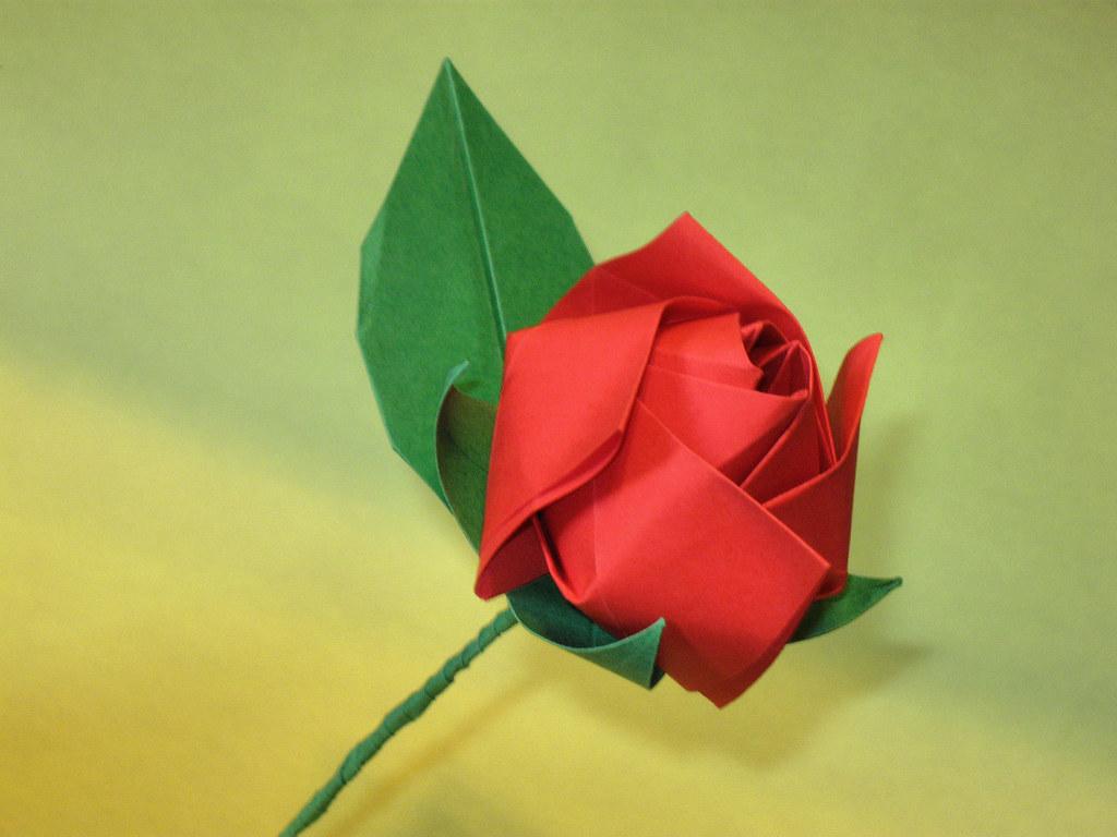 Rosa Autor Makoto Yamaguchi Livro Lovely Flower Origami Flickr