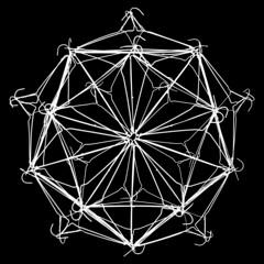 Sphere of coat hangers