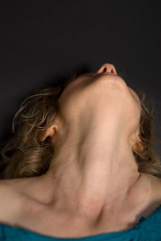 Beautiful female neck and throat