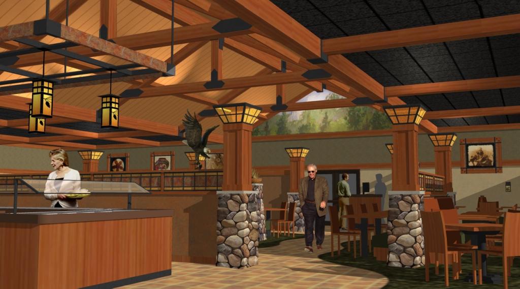 ... Interior 3D Design | Custom Casino Design | Casino Buffet Interior  Design | Lodge Style Décor