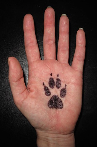 Coyote paw print tattoo on my hand | by Mary Cummins