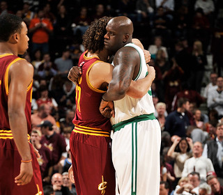 Andy Greets Old Teammate Shaq | by Cavs History