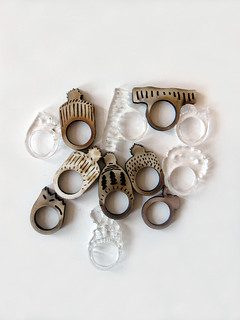 Laser Cut Rings | by ALL Knitwear
