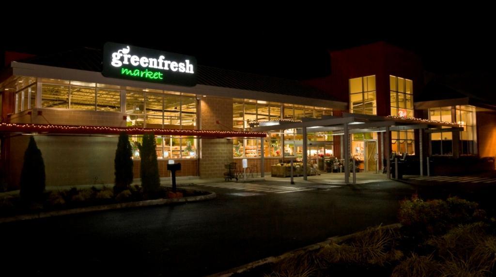 market exterior d cor organic market design grocery sto