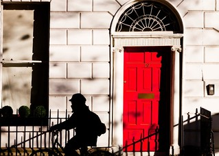 Red door in the sunshine | by Steve-h