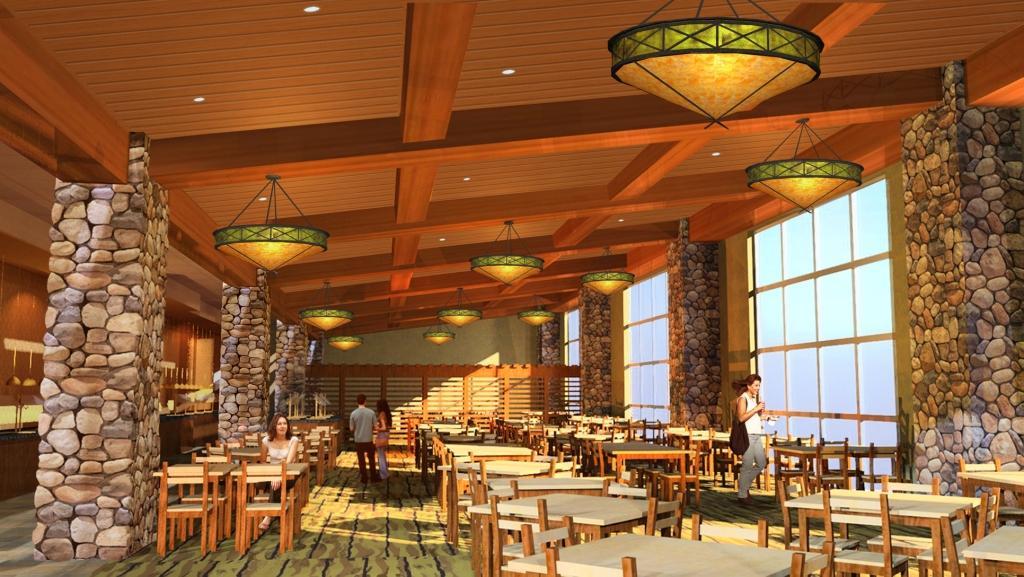 Buffet Design Rendering | Interior 3D Design | Buffet Deco ...