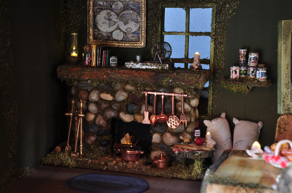 Fairy House Fireplace | This artisan fairy house is handpain… | Flickr
