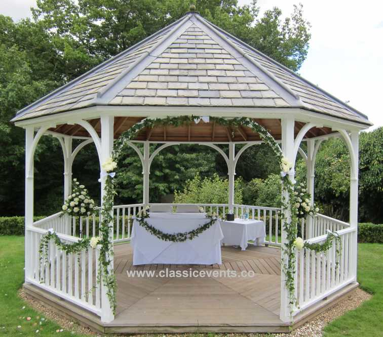Classic Events At Rowhill Grange Gazebo Wedding Decoration Flickr
