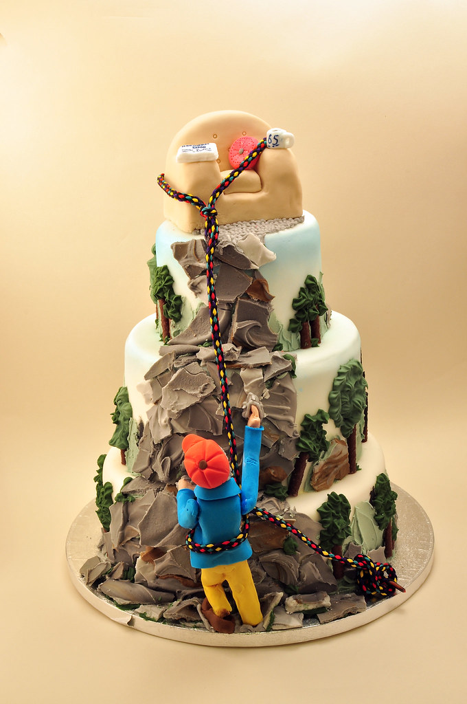 Rock Climber Birthday Cake Made By My Girlfriend For Her