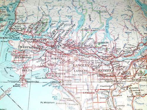 Original Washington Canada Border Map Afputracom - Bc us border map