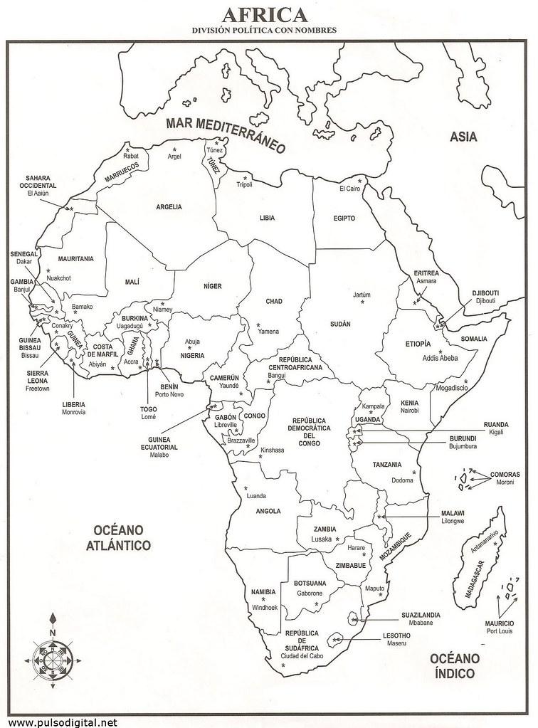 Mapa De Africa Con Nombres | My blog