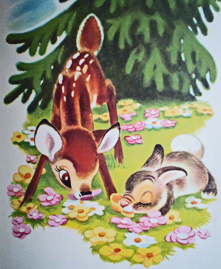 Vintage Bambi Book From The Walt Disney Movie A Big Golde Flickr