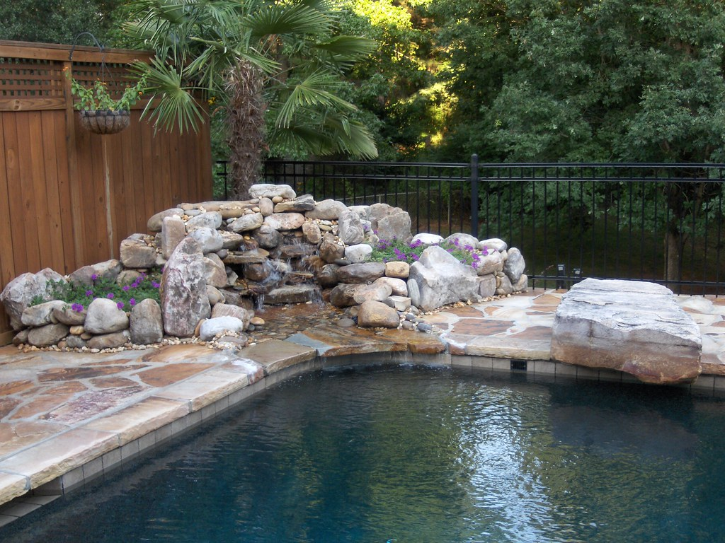 Swimming Pool Custom Stone Waterfall