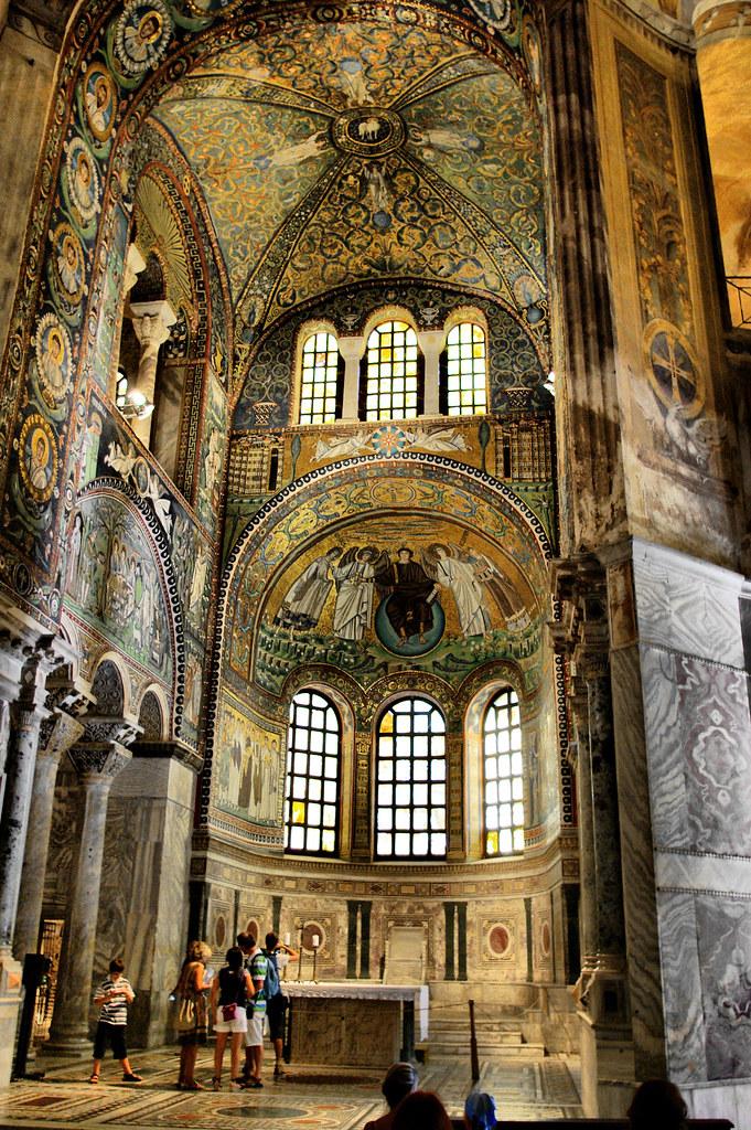 Basilica Of San Vitale Byzantine Mosaics Ravenna Базилик