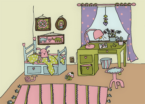 A Kids Room Illustration By Me Blogged Here