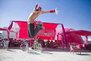 Halcyon jumpshot @ Pink Heart Camp - Burning Man 2010 | by ►mikehedge.com ♫