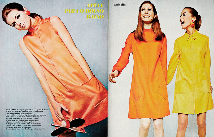1968 Brazilian Fashion Magazine Manequim January 1968