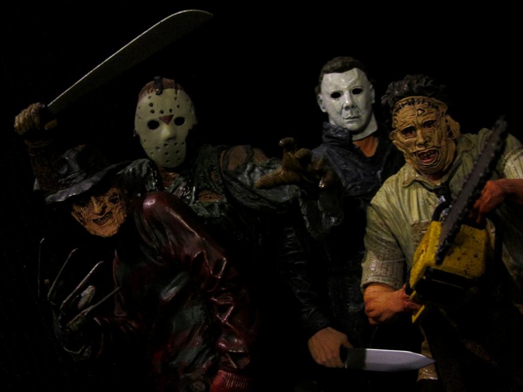 horror icons classics freddy jason michael myers