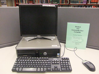 Community patron workstation | by Binghamton University Libraries
