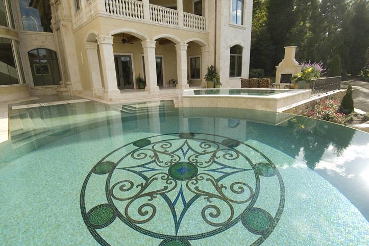 glass tile mosaic swimming pool frank bowman designs