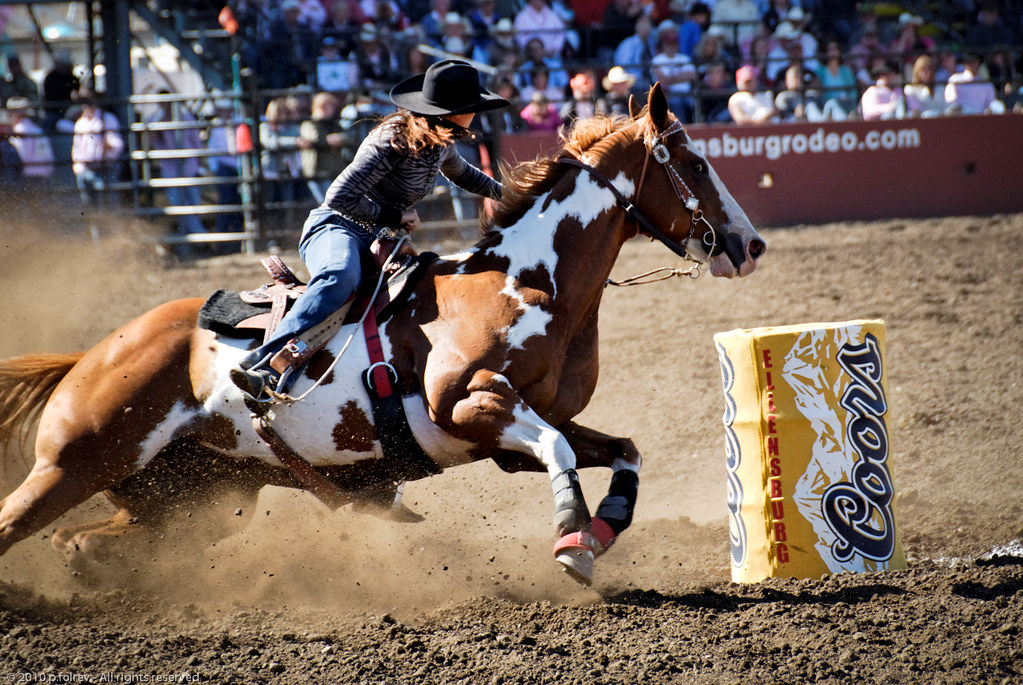 barrel racing barrel racing is a rodeo event in which a
