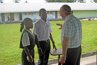 Professor Braun talks with Mckenzie High School Students | by US Embassy Guyana
