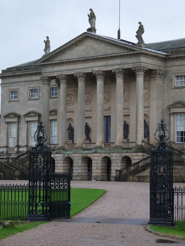 Palladian portico of kedleston hall kedleston hall is a for Palladian home designs