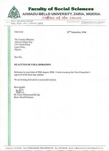 Letter VC Approval