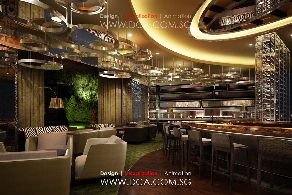 Bar club 3d rendering 3d visualization services mobile for Interior design jobs singapore