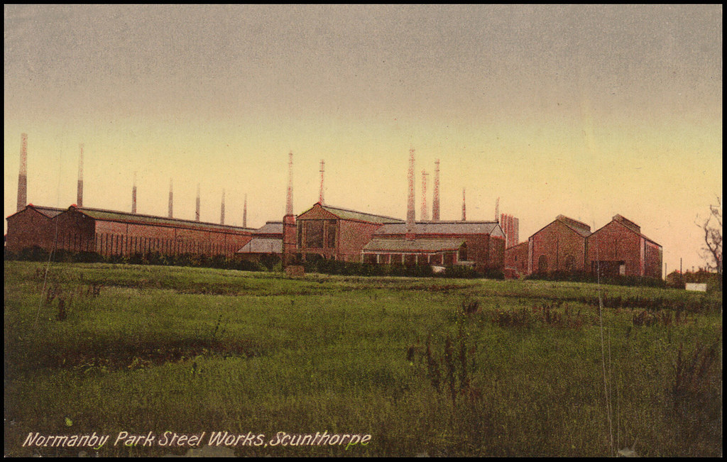Vintage Postcard Normanby Park Steelworks Scunthorpe