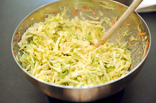 cole slaw with wasabi mayo | by sassyradish