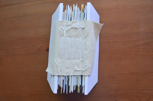 18. Attach second folded card stock to other side of cards as before.