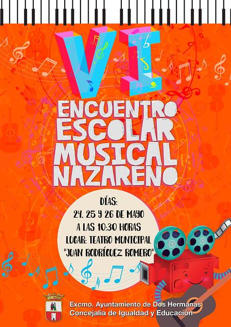 Cartel Encuentro Escolar Musical Nazareno