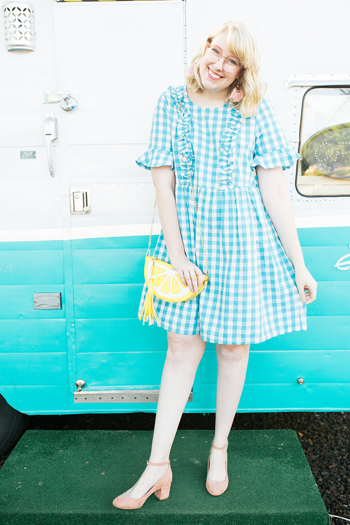 austin fashion blogger writes like a girl gingham asos dress4