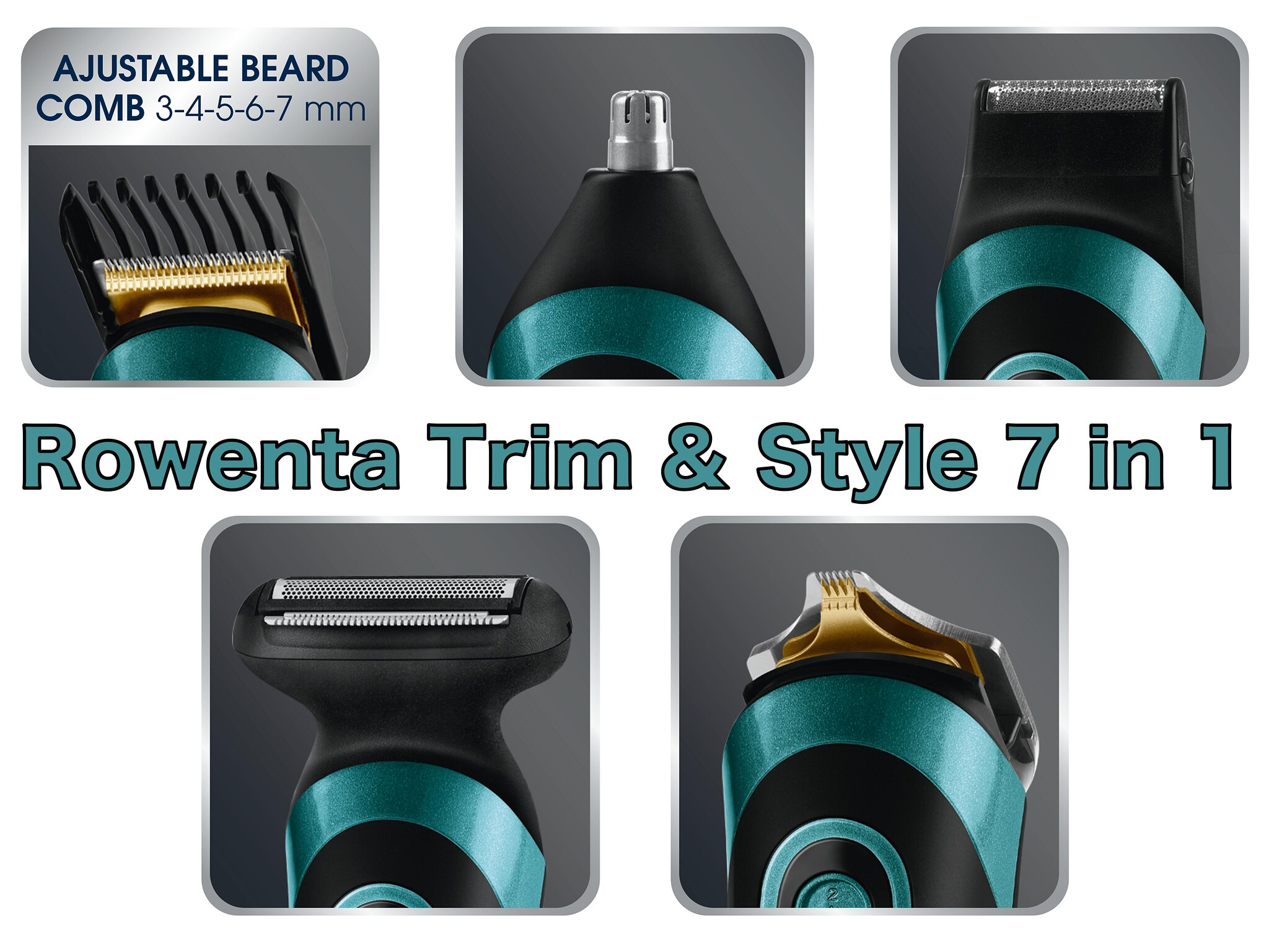 Rowenta Trim & Style 7 en 1 Accessoties