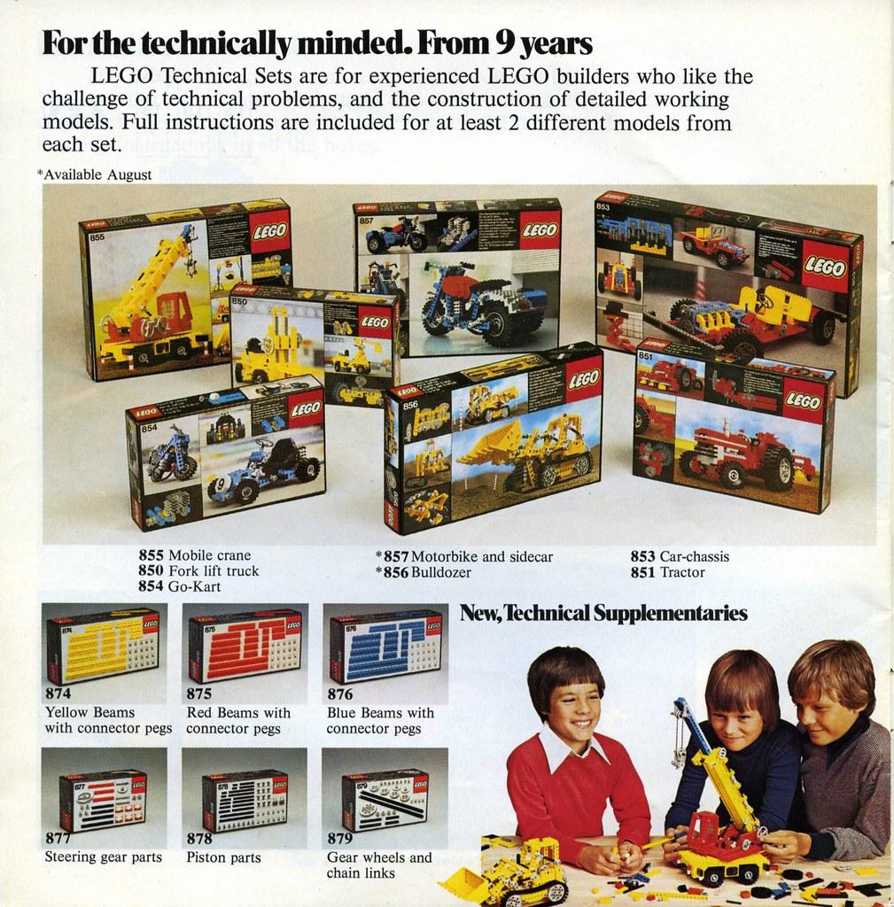 Throwback Thursday: Technic 1978-79 | Brickset: LEGO set guide and