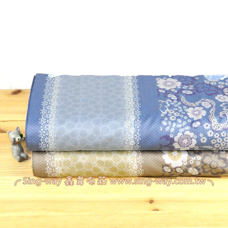 幻境迷花 典雅花卉精梳棉床品床單布料 CA490358
