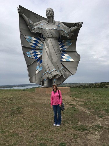 me by a statue named Dignity, Chamberlain, South Dakota. From The Art of Road Tripping, Part 3: Noticing Things