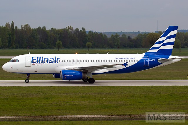 Ellinair (Grand Cru Airlines) A320-200 LY-SPC @ MUC