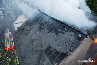 Gebäudebrand Plattenladen Geisenheim 03.05.17