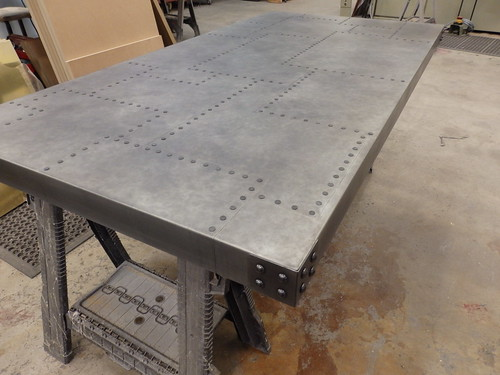 Aged Patchwork Zinc Table Top With Aged Rivet Detail Flickr