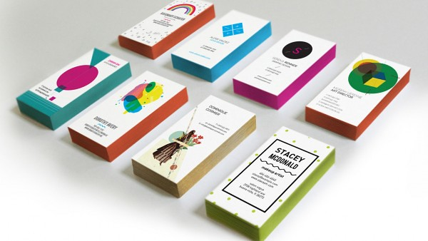 edge colored business card templates by oubly - Colored Edge Business Cards