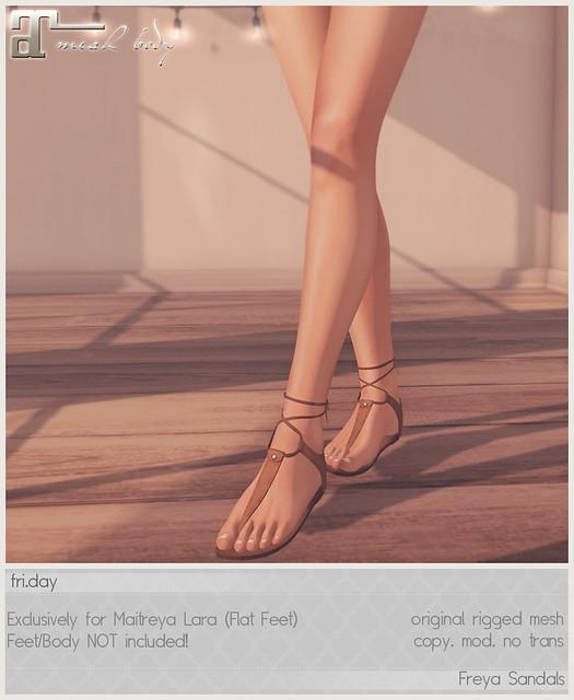 friday - Freya Sandals for Kustom9 May!