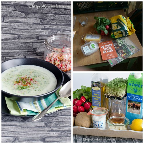 Buttermilch-Radieschensuppe Collage