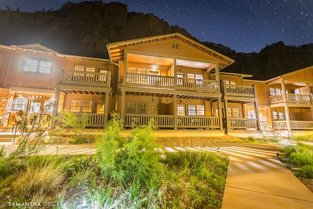 Zion Lodge at Night