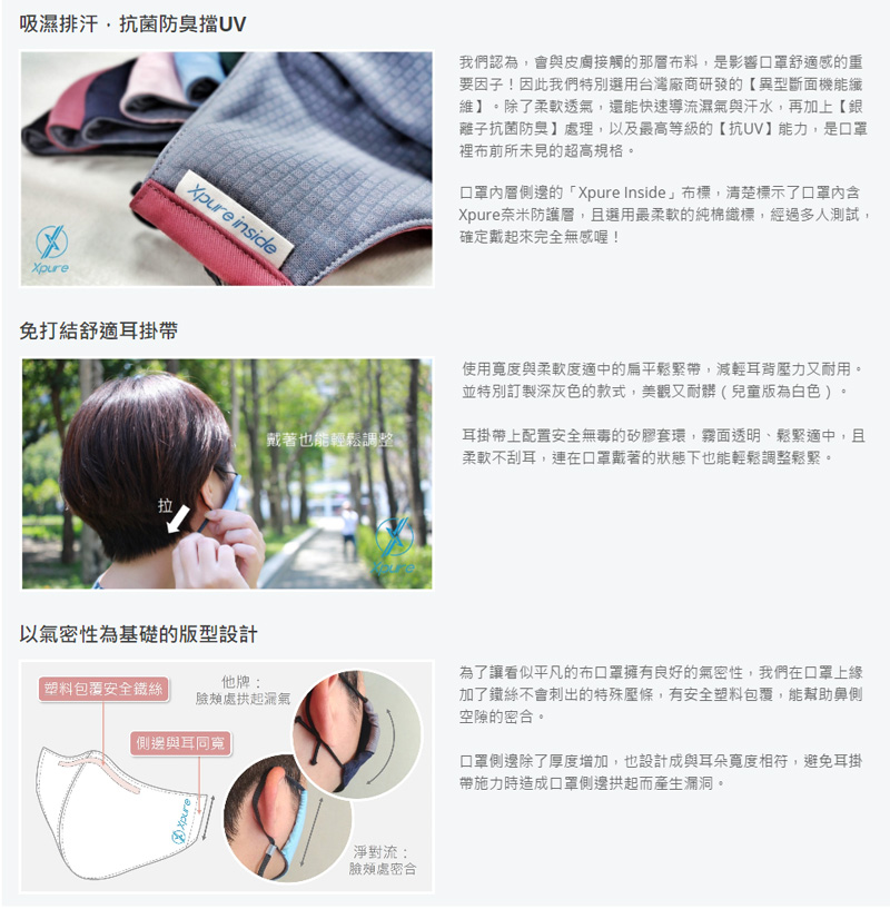 加贈舒耳帶 淨對流 抗PM2.5 抗霾口罩 防霾 奈米防護層 台灣製造 立體口罩 霾害 可水洗重複使用