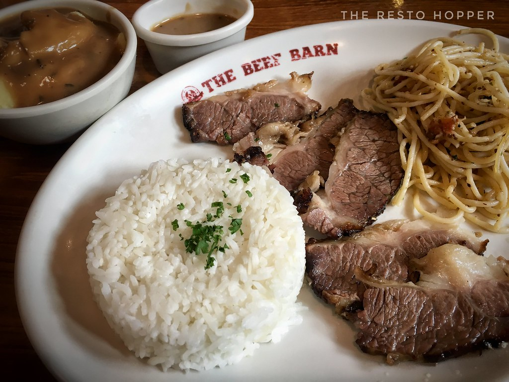 Roast Beef, Unli Rice, Mashed Potato and Tuyo Aglio Olio