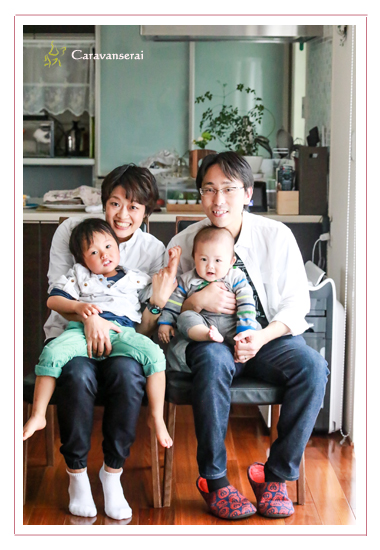 自宅で家族写真 キッズフォト ロケーション撮影 人気 オススメ 出張撮影 名古屋市瑞穂区 誕生日記念 バースデーフォト