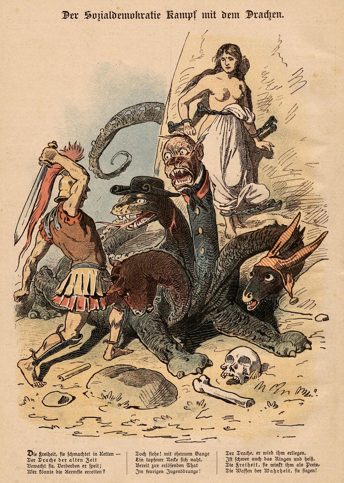 Unsigned - The Social Democratic Struggle With The Dragon, 1893