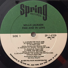 MILLIE JACKSON:FREE AND IN LOVE(LABEL SIDE-A)